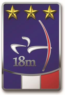 Badge classique salle 18m