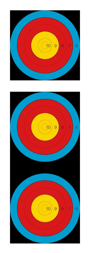 tri-spot vertical 40cm réduit 5 zones